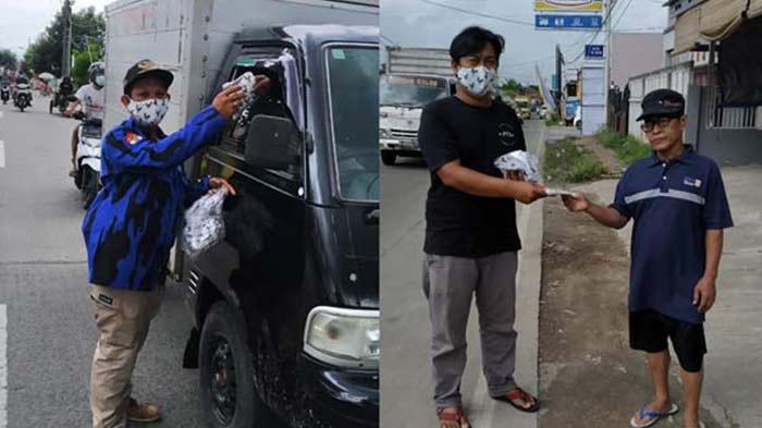 Paguyuban Tegal Baju dan PAC Badak Banten Tigaraksa Bagi-Bagi Masker