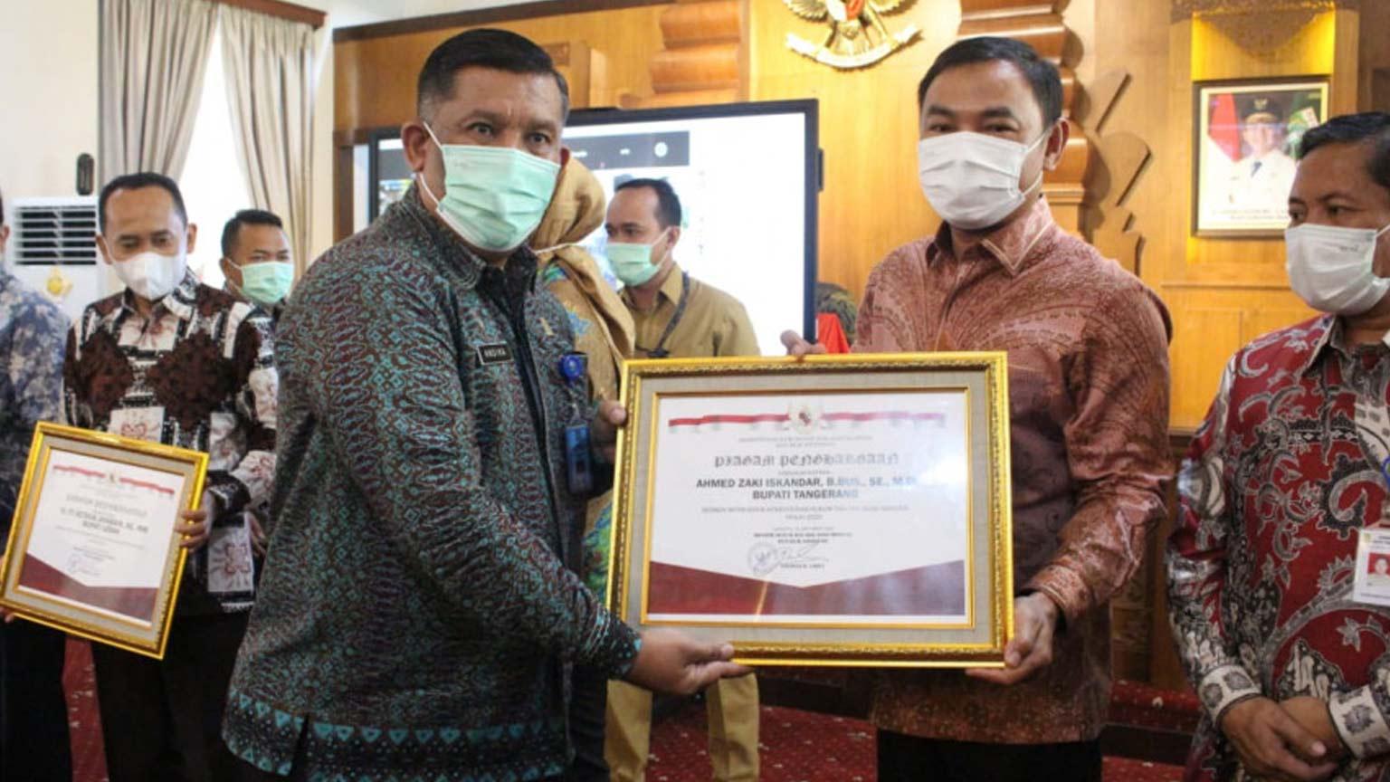Pemkab Tangerang Raih Penghargaan Peduli HAM Tahun 2019