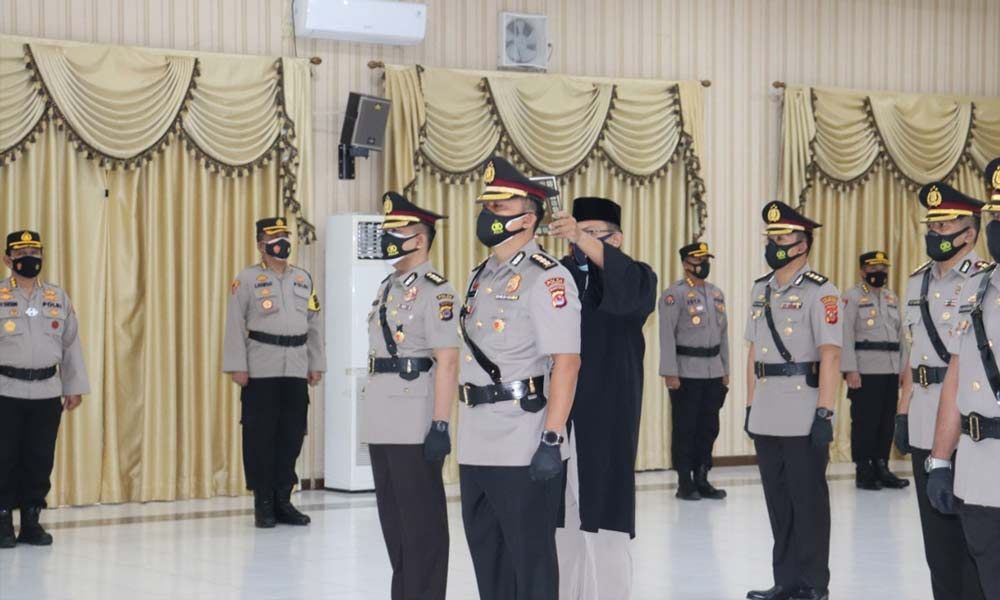 Kapolda Banten Pimpin Upacara Serah Terima Jabatan PJU Polda Banten