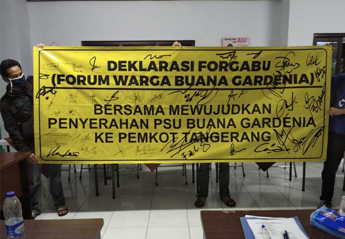 25 Tahun Dizolimi Pengembang, Warga Perumahan Buana Gardenia Deklarasikan Forum Warga