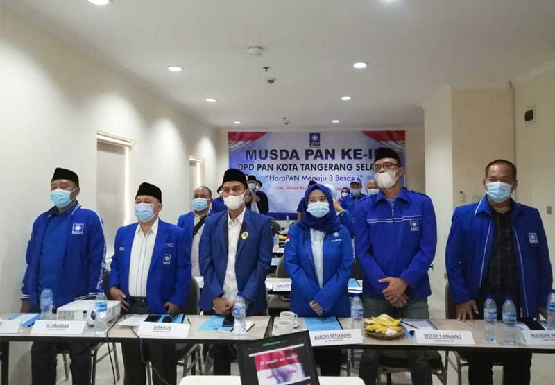 Musda III DPD PAN Kota Tangsel Berlangsung Virtual di Astera Hotel Bintaro