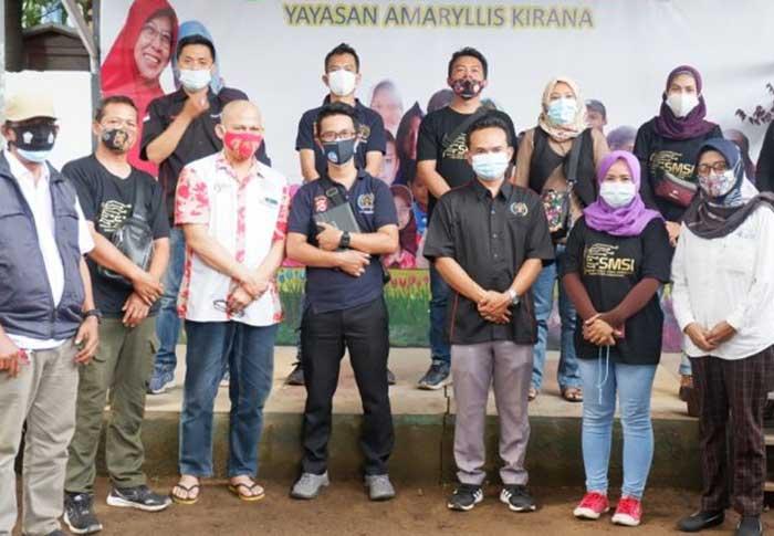 Peringati HPN 2021, SMSI dan PWI Kabupaten Tangerang Kunjungi Anak-Anak Penderita Kanker