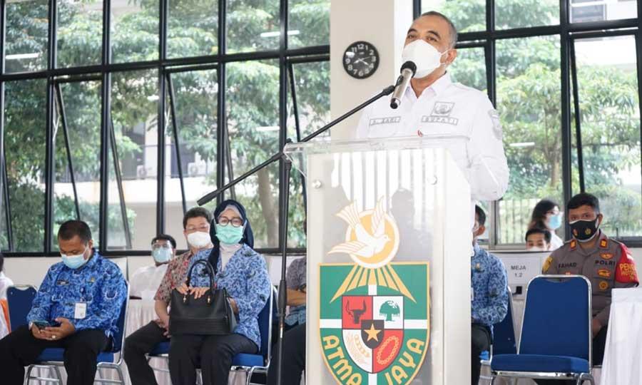 Bupati Tangerang Resmi Buka Vaksinasi Lansia di Unika Atma Jaya Cisauk