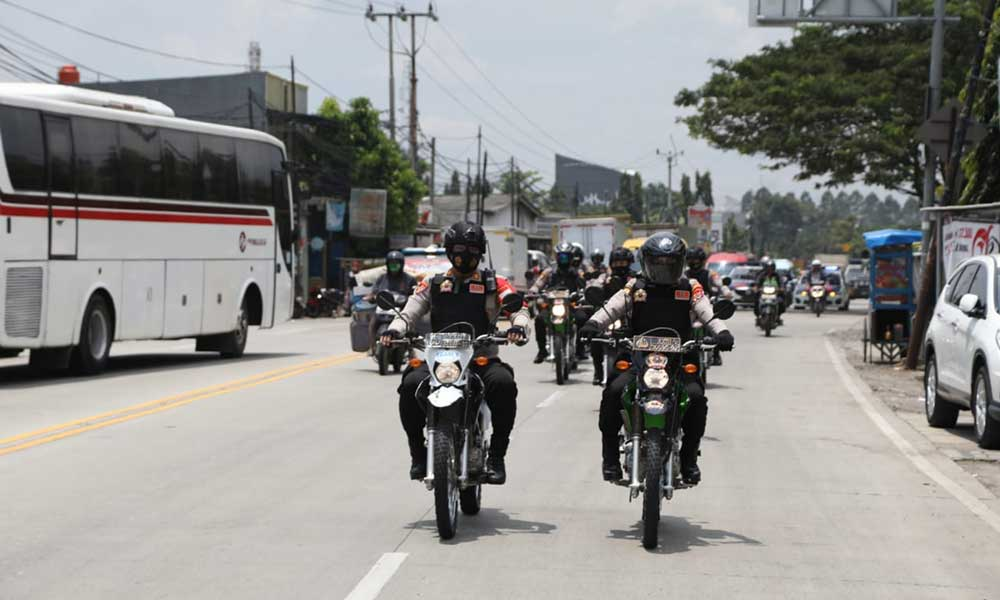 Dukung Pemerintah Cegah Covid-19, Pendekar Raksa Polresta Tangerang Lakukan Patroli Skala Besar