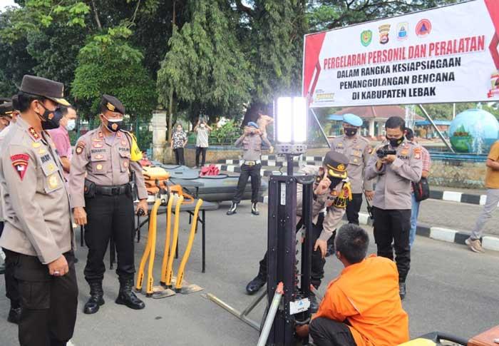 Kapolda Banten Cek Kesiapan Antisipasi Bencana Alam di Kabupaten Lebak