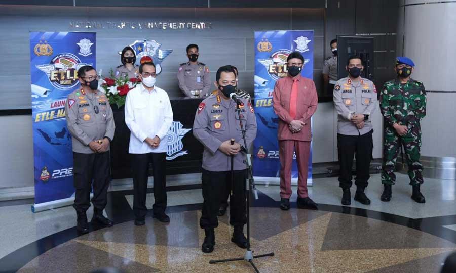 Launching Etle Nasional Tahap 1 Diresmikan Kapolri, 12 Polda Siap Terapkan Tilang Elektronik