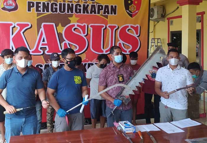 Bikin Resah, Polda Banten Amankan 10 Anggota Kelompok Geng Motor