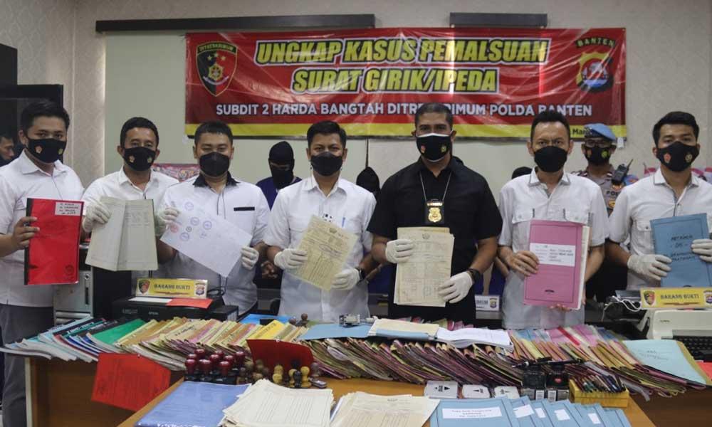 Polda Banten Kembali Ungkap Kasus Mafia Tanah