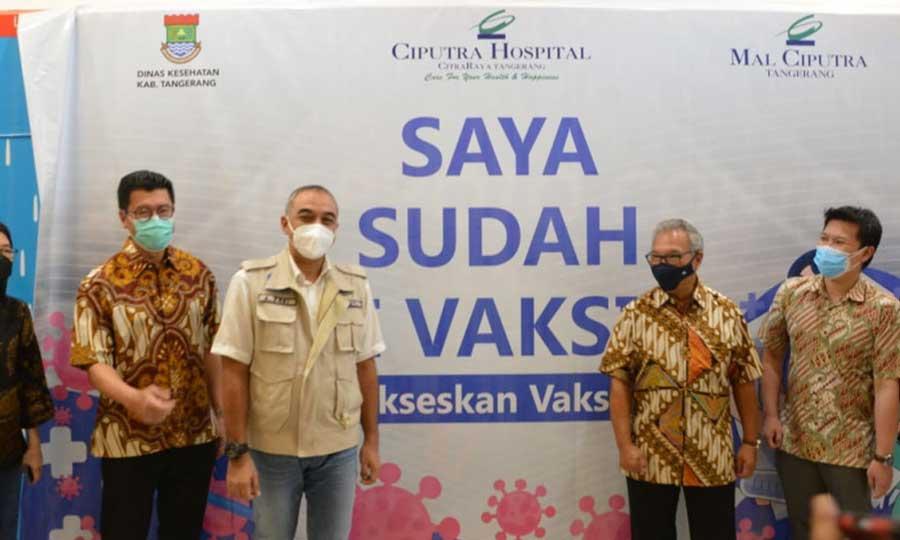 Tekan Angka Penyebaran COVID-19, Vaksinasi Terus Dilakukan Kabupaten Tangerang