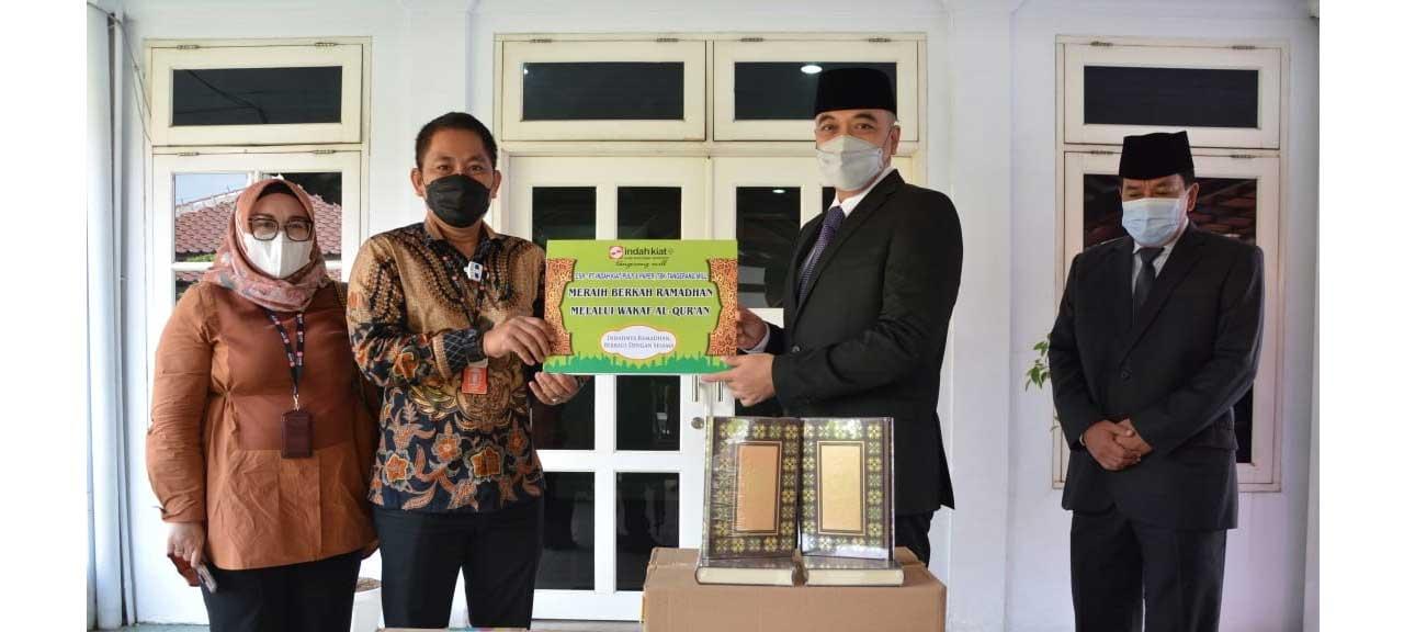 Bupati Tangerang Terima Langsung Bantuan CSR Dari PT Indah Kiat Pulp And Paper