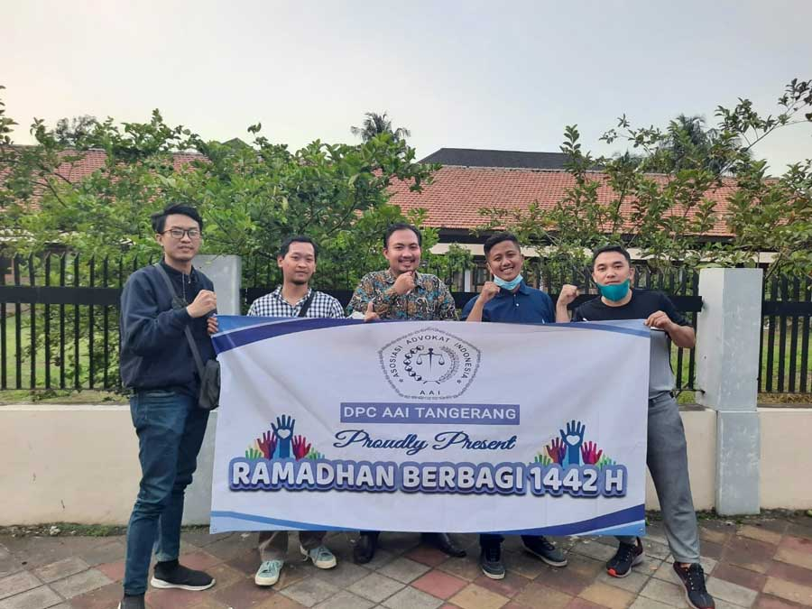 DPC AAI Tangerang Rutin Bagi Sembako di Bulan Ramadhan