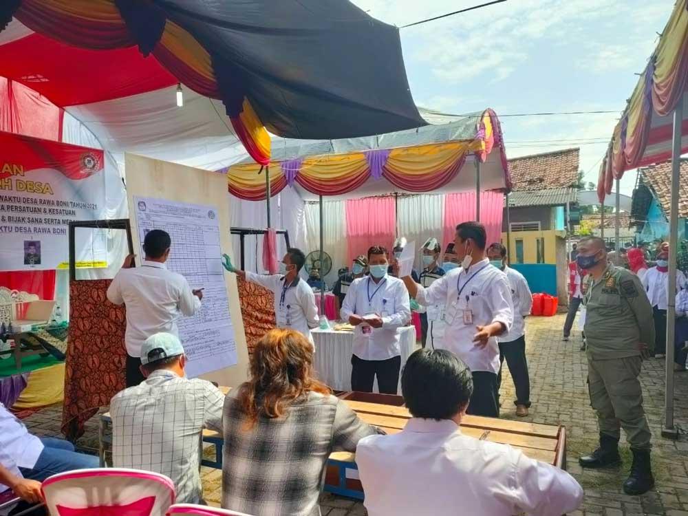 Hadiri Pilkades PAW Desa Rawa Boni Pakuhaji, Sekda: Alhamdulilah Semua Berjalan Lancar