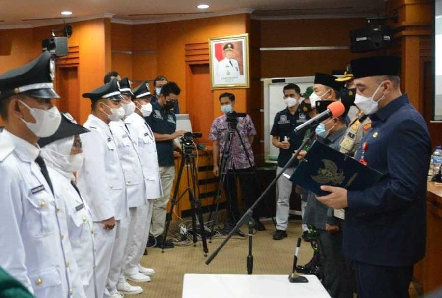 6 Kades Terpilih Pilkades PAW Dilantik Bupati Tangerang