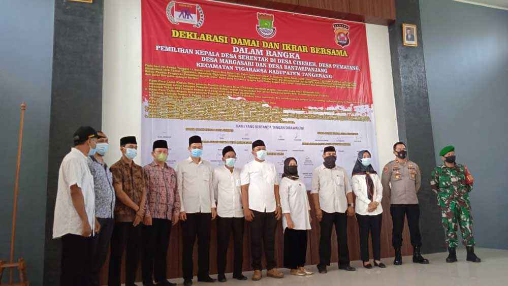Kecamatan Tigaraksa Gelar Deklarasi Damai Pilkades Serentak