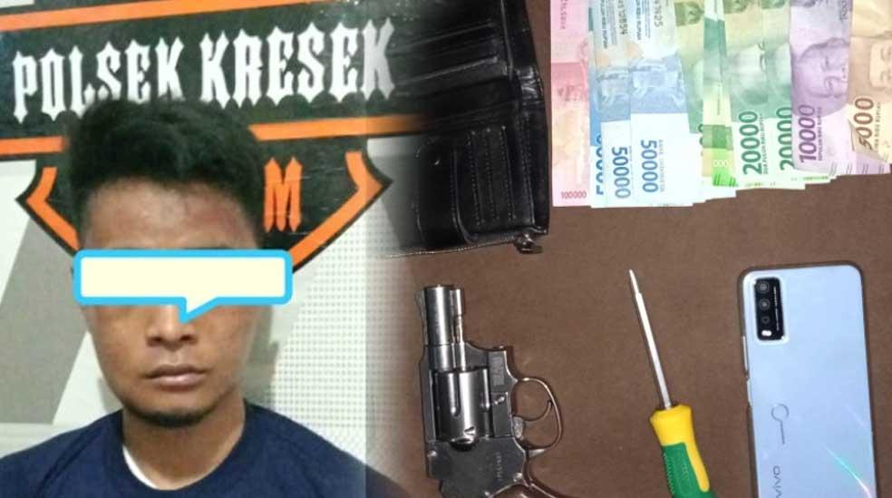 Polresta Tangerang Bekuk Pencuri HP dan Miliki Air Softgun