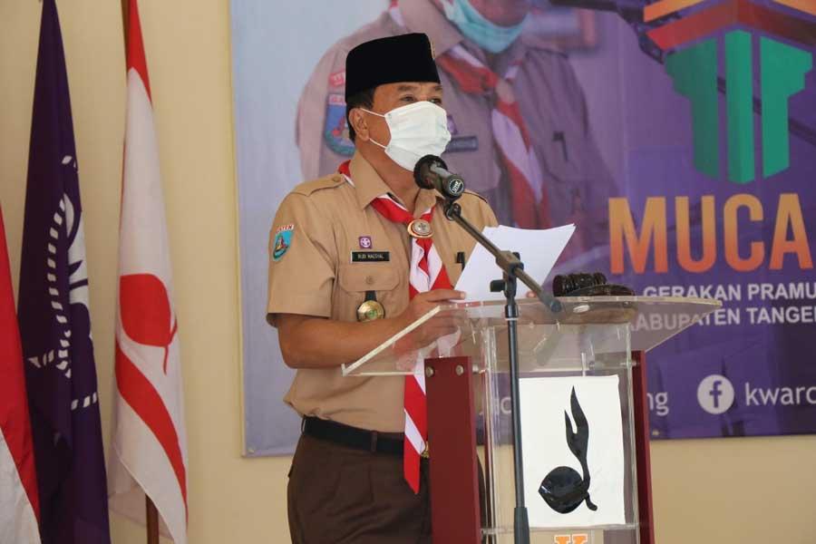 Terpilih Secara Aklamasi, Rudi Maesyal Kembali Pimpin Kwartir Cabang Gerakan Pramuka Kabupaten Tangerang Periode 2021-2026