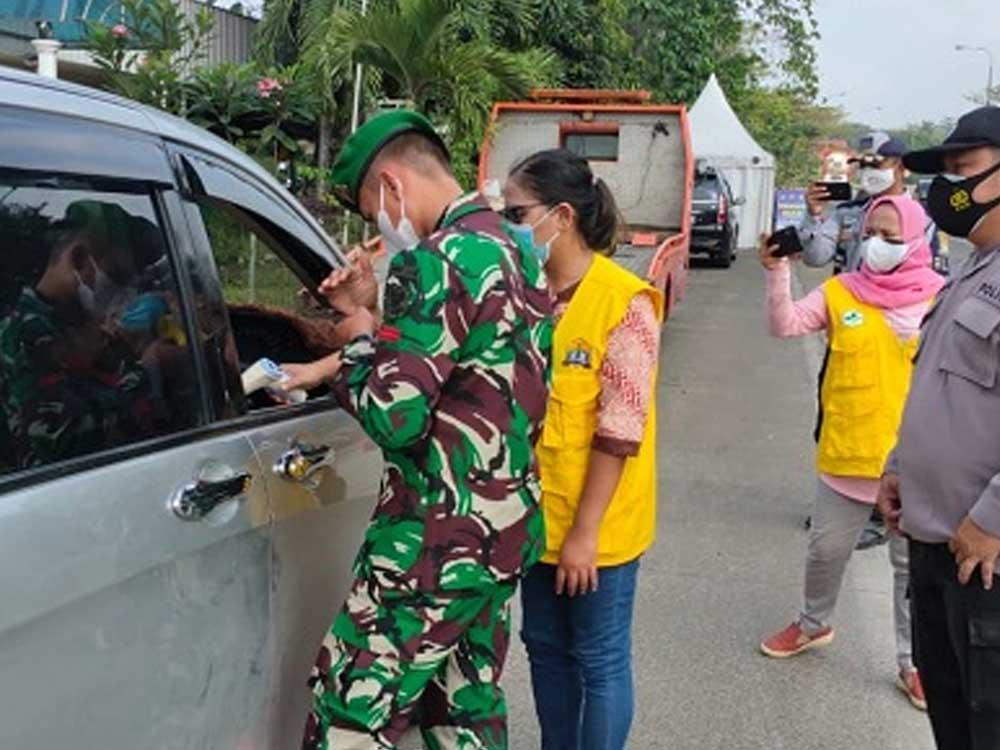 Hari Ke-22 PPKM Level 4, Polda Banten Sudah Vaksin 85.920 orang dan Putar Balikan 157.302 Ranmor