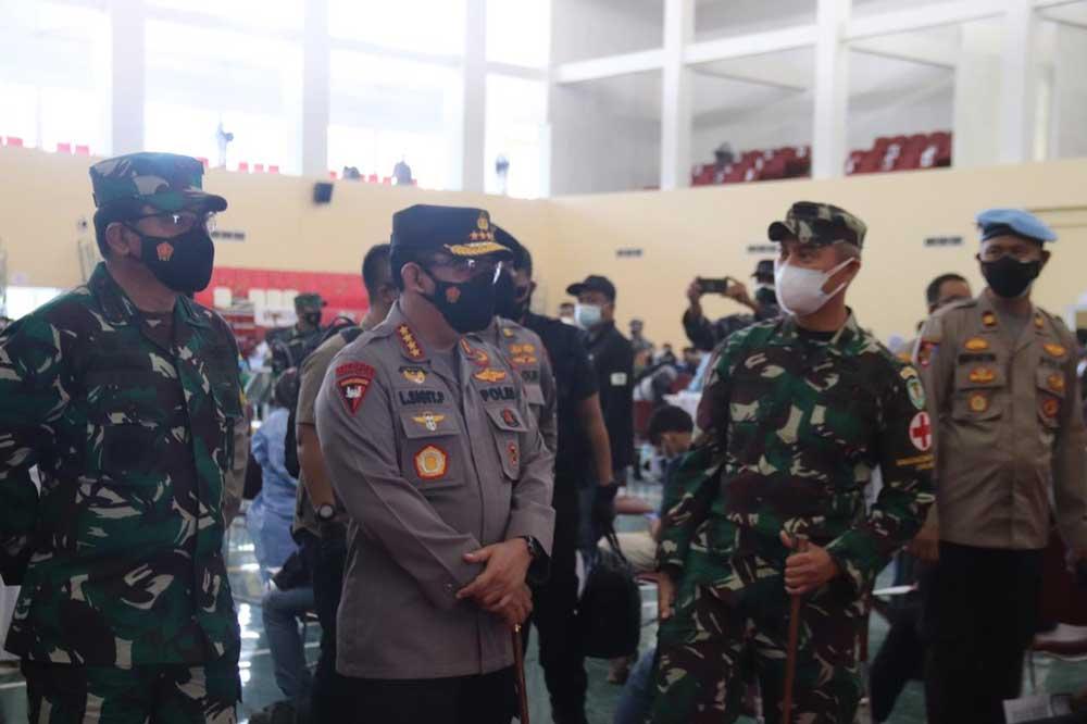 Polres Serang Kota Gelar Pengamanan Kunker Panglima TNI, Kapolri Dan Kepala BNPB