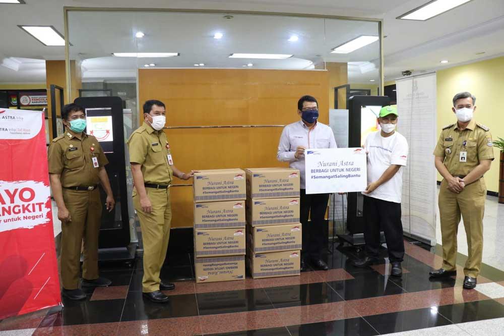 Bantu Penanganan Covid-19, PT Astra dan PT Citra Raya Salurkan 1200 Paket Sembako