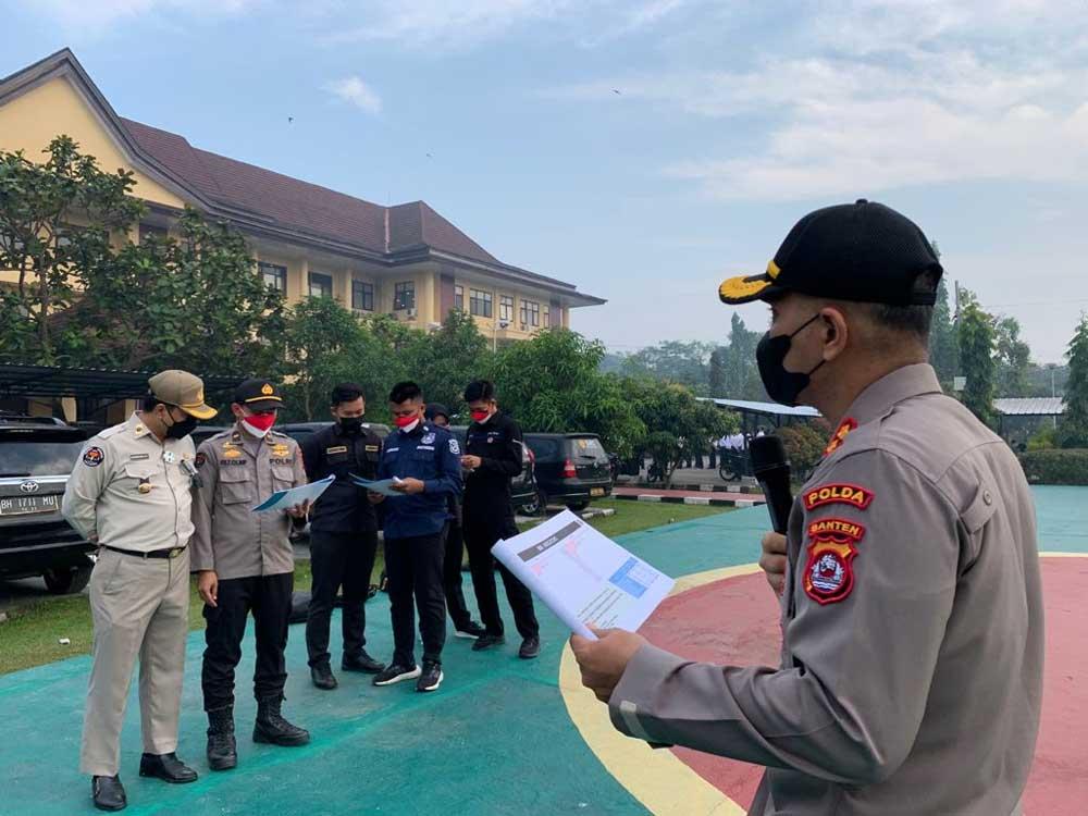 Evaluasi Kegiatan Mingguan, Personel Bid Humas Polda Banten Laksanakan Apel Pagi Satker