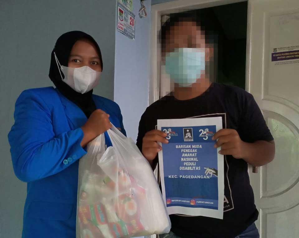 HUT Ke 23, OKP BM PAN Tangerang Lakukan Baksos Peduli Disabilitas