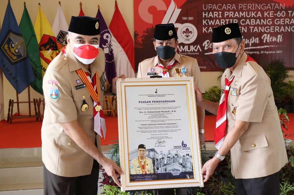 Kwarcab Gerakan Pramuka Kabupaten Tangerang Gelar Upacara HUT Pramuka Ke-60