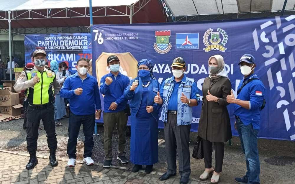 Partai Demokrat Kabupaten Tangerang Gelar 1000 Vaksinasi 1 Hari Untuk Masyarakat