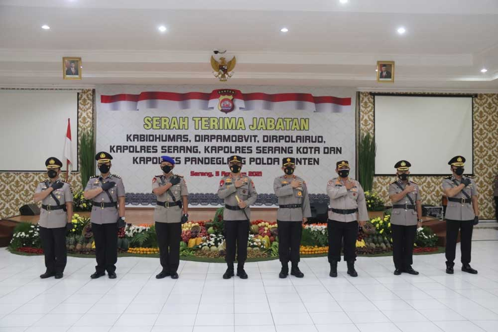 Pejabat Utama dan Kapolres Dilantik Kapolda Banten