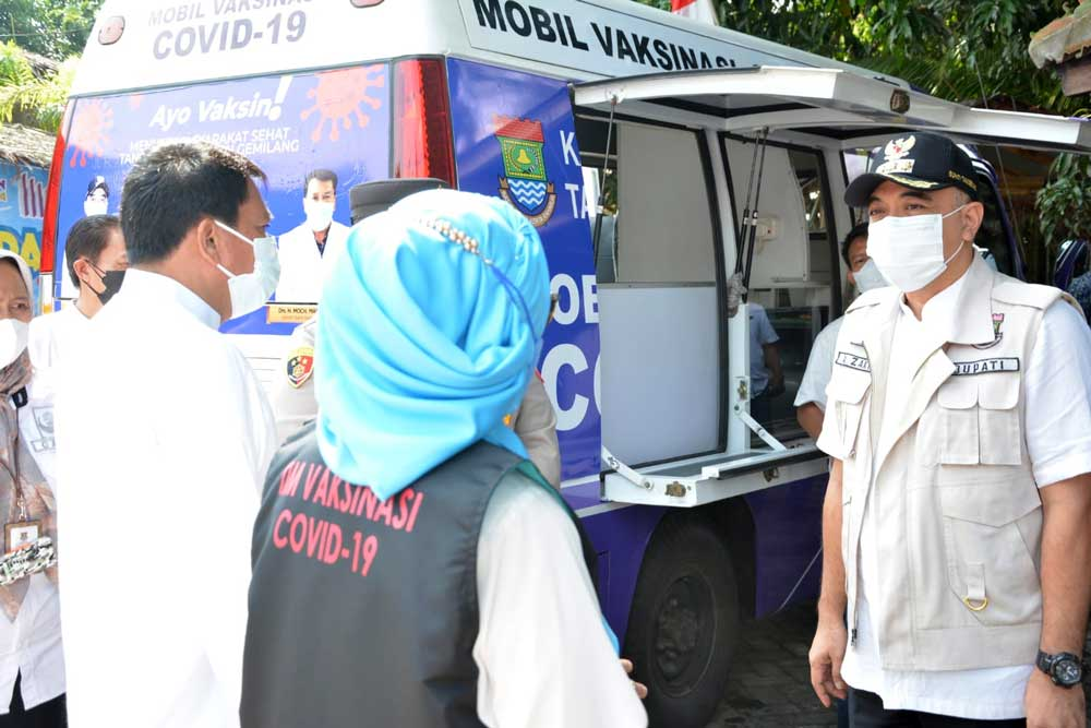 Pemkab Tangerang Berinovasi Dengan Menghadirkan Mobil Vaksinasi Keliling