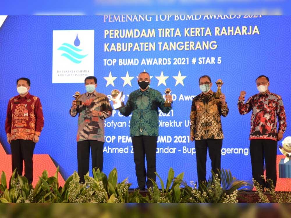 Ajang Top BUMD Award 2021, Pemkab Tangerang Borong Kembali Torehkan Prestasi