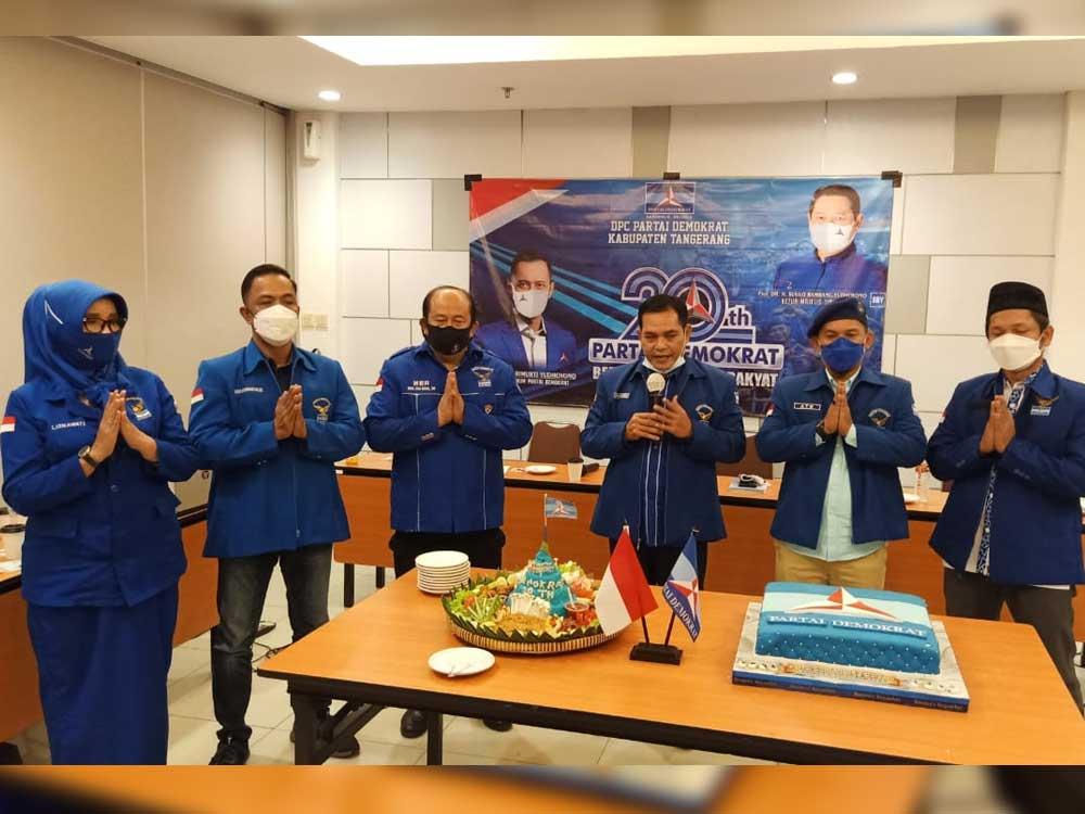 Peringati Dua Dekade Kelahiran Partai, DPC Partai Demokrat Kabupaten Tangerang Bantu Rakyat Hadapi Pandemi Covid-19
